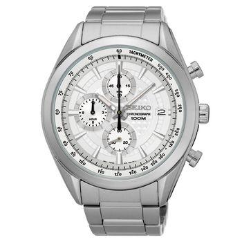 SEIKO 競速巔峰時尚計時腕錶-銀/45mm 8T67-00A0S(SSB173P1)