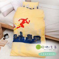 【R.Q.POLO】奔跑兄弟 胖卡系列兒童冬夏兩用鋪棉書包睡袋(4.5X5尺)