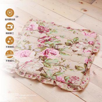 富贵高雅玫瑰印花沙发坐垫(1人)