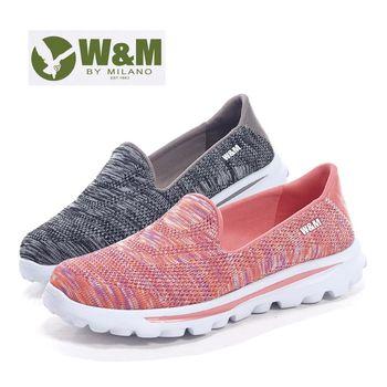 【W&M】 BOUNCE系列 超彈力萊卡輕量混織增高休閒女鞋
