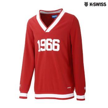 K-Swiss Pullover長袖上衣-男-紅
