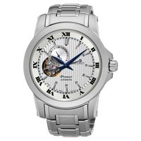 SEIKO Premier 24小時開芯機械錶-銀/41mm 4R39-00L0W(SSA275J1)