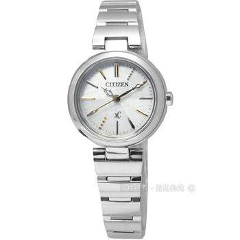 CITIZEN 星辰表 / FE2020-58A / XC典雅亮麗藍寶石水晶光動能不鏽鋼手錶 銀色 25mm