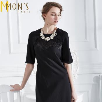 MONS貴族系鏤空蕾絲古典小洋裝