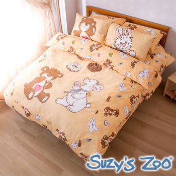 【Suzy`s Zoo】台灣製造 甜甜圈單人被套床包組(卡其)