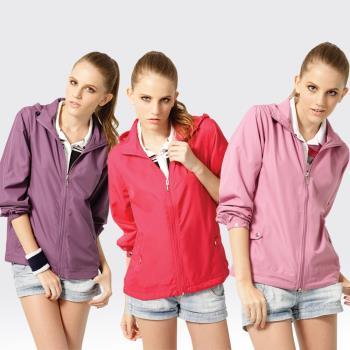 【SAMLIX山力士】女 抗UV 輕薄 休閒 風衣 外套#WJ622(紫色.紅色.粉紫)