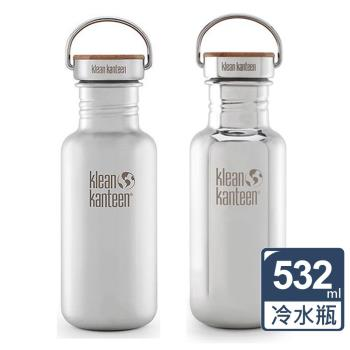 【美國Klean Kanteen】竹片鋼蓋冷水瓶(532ml)