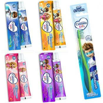 进口Cussons佳霜(儿童牙膏)(4款选择)(45g)*12+牙刷(5~7)岁*6