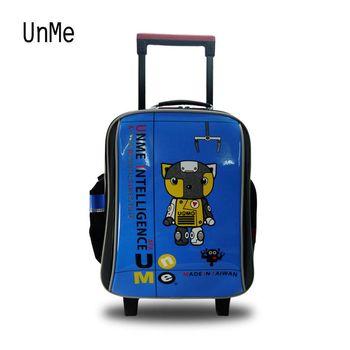 UNME 台灣製造『減壓零負擔+包包雨衣』機器貓可背式拉桿兒童書包 3308C