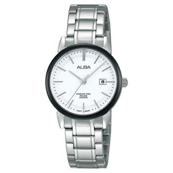 ALBA Lady 日系輕盈美學時尚腕錶-銀/28mm VJ22-X177S(AH7E69X1)