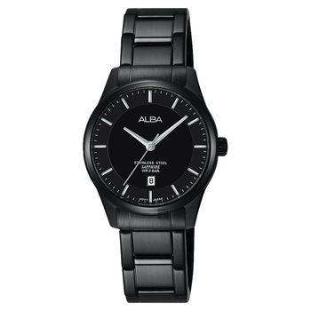 ALBA 城市簡約時尚女錶-黑/28mm VJ22-X243SD(AH7M19X1)