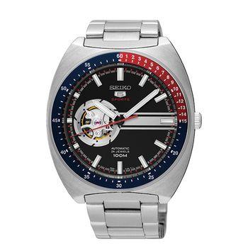 SEIKO 精工 5號鏤空機械腕錶 4R38-01K0D(SSA329J1)