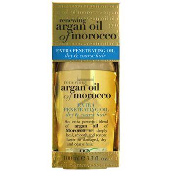 美國Ogx Argan有機洗髮精(摩洛哥堅果油)(13oz/385ml)*2+摩洛哥堅果油護髮油加強修護(免沖洗)(3.3oz/100ml)*1