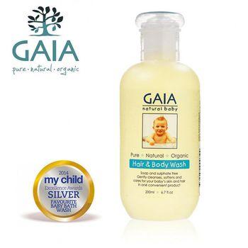 任-【GAIA】澳洲蓋雅 天然/有機-寶寶二合一體髮露200ml(洗頭洗澡一次搞定)