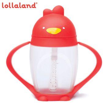 【lollaland】美國 可愛造型小雞杯-吸管學習杯 296ml (紅/綠/粉/藍/橘/黑,六色可選)