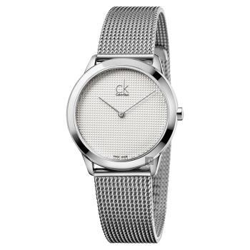Calvin Klein CK Minimal 極簡米蘭帶女錶-銀/35mm K3M2212Y