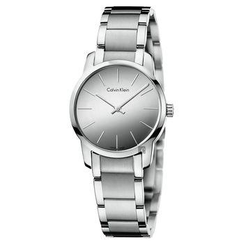 Calvin Klein CK City 極簡鏡面都會女錶-銀/32mm K2G23148