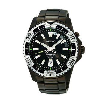 SEIKO 精工CRITERIA 經典時尚日期顯示不鏽鋼腕錶/46mm/6A32-00S0SD