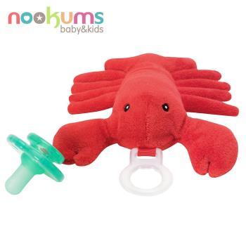 任-【美國nookums】寶寶可愛造型安撫奶嘴/玩偶-龍蝦哥