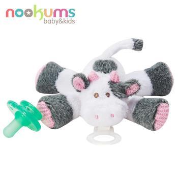 【美國nookums】寶寶可愛造型安撫奶嘴/玩偶-乳牛寶寶