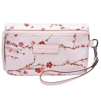 LONGCHAMP Neo Fantaisie-Sakura系列化妝包/手拿包(玫瑰色)