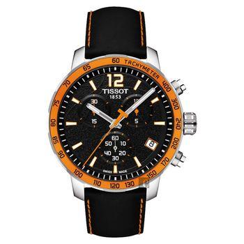 TISSOT 2014 FIBA 籃球世界盃限量版腕錶-黑x橘框/42mm T0954171605700