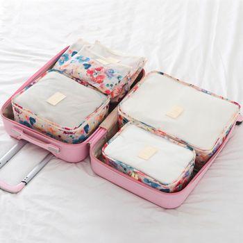 【韓版】禾風超質感加厚防潑水旅行收納6件套組(2色)
