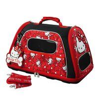 【三麗鷗】HELLO KITTY凡爾賽寵物側背箱-紅色