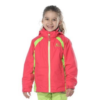 【聖伯納 St.Bonalt】女中童-可拆式連帽刷毛四合一防水防風外套(86162)-糖果粉/鮮桔/鮮綠