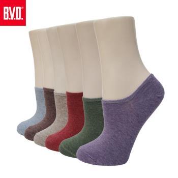 【BVD】懷舊細針低口直角女襪-8雙組(B244襪子-女襪)