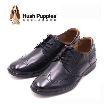 Hush Puppies復古雕花牛津紳士皮鞋 男鞋-黑