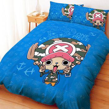 【享夢城堡】航海王 喬巴GOGOGO系列-雙人床包兩用被組