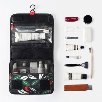 【韓版】禾風超質感新款加厚大容量懸掛式盥洗包(2色)