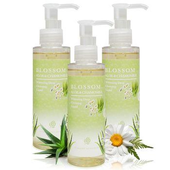【BLOSSOM】芦荟洋甘菊植萃净白保湿温和深层卸妆露(150ML/瓶)X3件组
