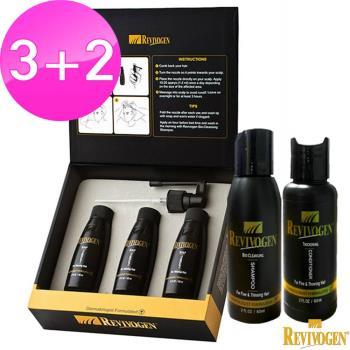 【REVIVOGEN立髮健】 第三代強效 鋸棕櫚 洗護養3+2超值組(養髮液*3+洗髮乳*1+護髮素*1)