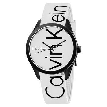 Calvin Klein CK Color 時尚運動腕錶–白/40mm K5E51TK2