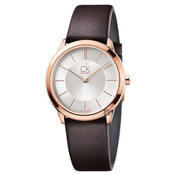 Calvin Klein CK Minimal 極簡都會女錶-玫瑰金框/35mm K3M226G6