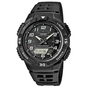 【CASIO】 新城市陽光遊俠電子運動錶-黑面 (AQ-S800W-1B)