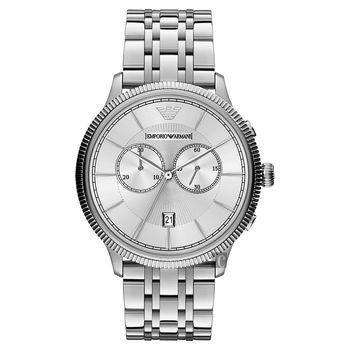 ARMANI Classic 爵士時尚雙眼計時腕錶-43mm AR1796
