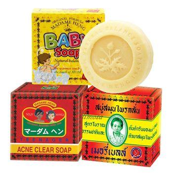 泰國 阿婆皂 興太太 Madame Heng 阿婆香皂/嬰兒香皂/控油潔膚皂(任選3入)