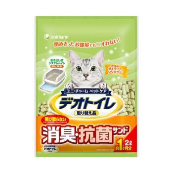 日本Unicharm消臭大師 一月間消臭抗菌貓砂2L x2包