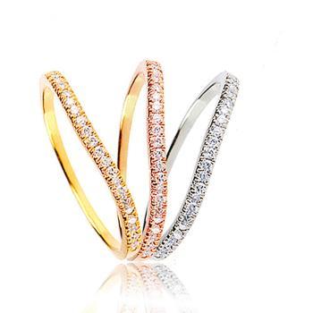 美玥珠寶 氣質鑽石尾戒(鑽石共0.13CT)