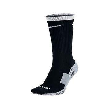 【NIKE】男女足球襪-長襪 襪子 黑灰白