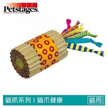 美國Petstages)) 702 貓抓紙筒短鞭炮 (彩帶)  2入裝 寵物磨爪玩具