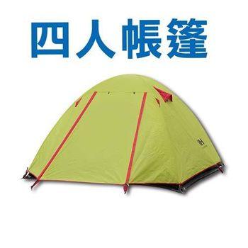 NatureHike登山露營四人帳篷-綠
