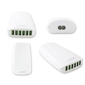 6孔USB輸出旅行充電器(5V/5.4A)