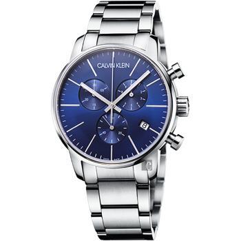 Calvin Klein CK City 都會紳士計時腕錶-藍/43mm K2G2714N
