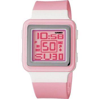 【CASIO】 Poptone 棉花糖彩衣錶-粉紅 (LDF-20-4A)