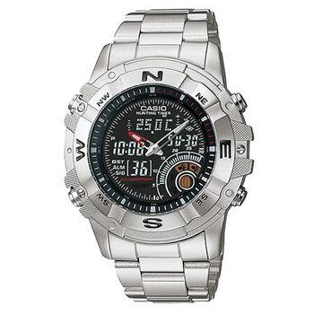 【CASIO】 全方位競速雙顯鋼帶錶-黑 (AMW-705D-1A)