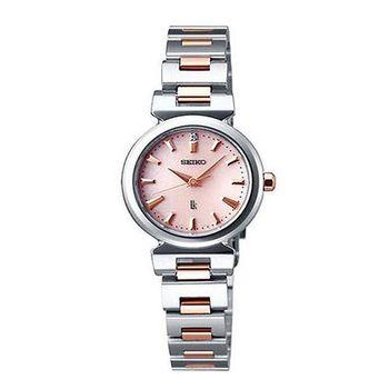 SEIKO LUKIA 時尚玫瑰金都會女性腕錶 V117-0AG0KS(SSVR097J)